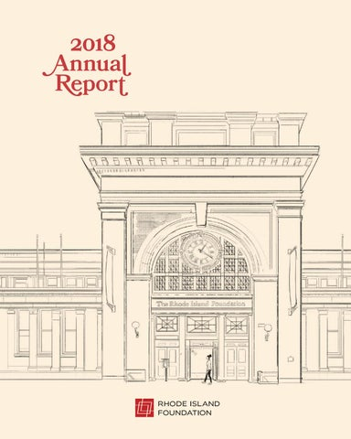 Rhode Island Foundation 2018 Annual Report by Rhode Island