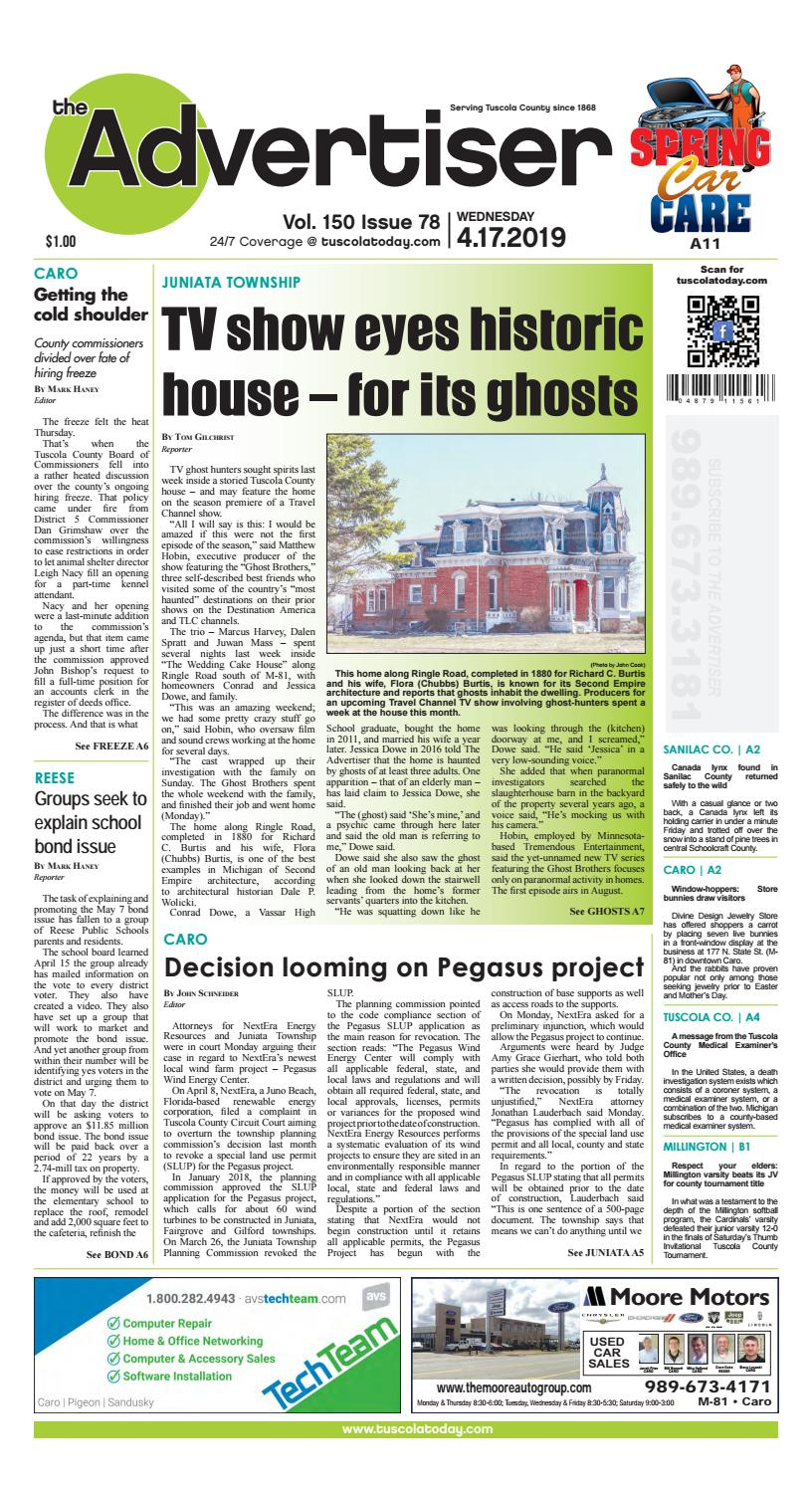 TCA 4-17-19 by Tuscola County Advertiser - issuu