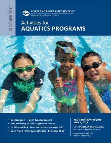 Portland Parks & Recreation Aquatics - Summer 2019 by