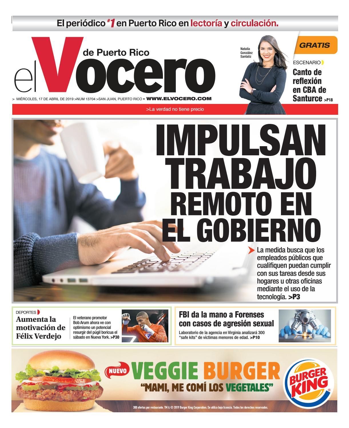 c24d35e83 Edición del 17 de abril de 2019 by El Vocero de Puerto Rico - issuu