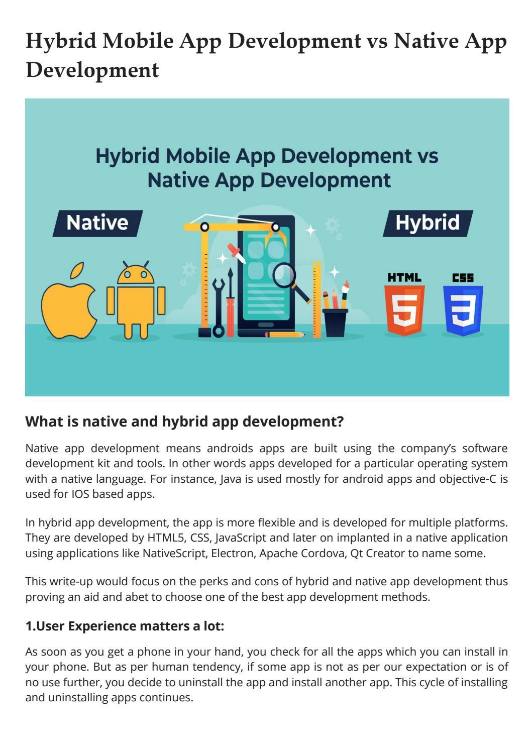 Hybrid Mobile App vs Native App Development by eSparkBiz - issuu