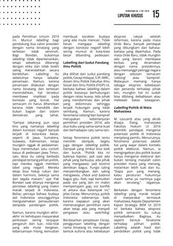 Page 15 of Labelling Kubu Politik: Dari Orde Lama Hingga Era Reformasi