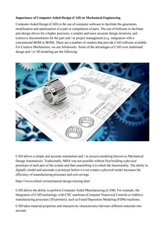 Importance Of Computer Aided Design Cad In Mechanical Engineering By Adityakurapati14 Issuu