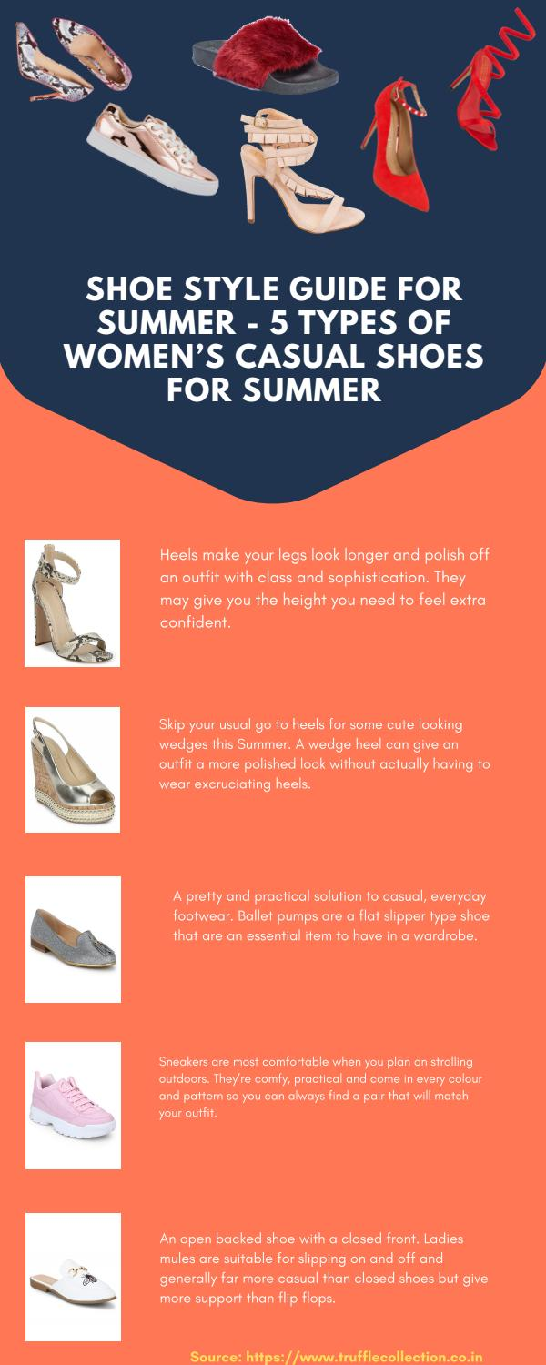 Shoe Style Guide for Summer - 5 Types