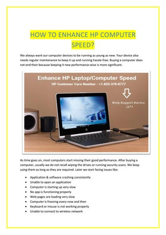 How To Enhance Hp Computer Speed By Alina Frank Issuu