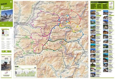 Cartina tour in bici da strada Val di Fassa - 2019 by APT Val di ...