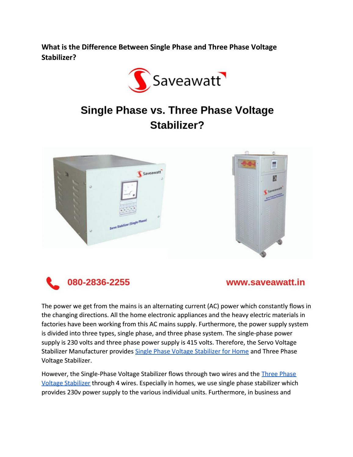 What is the Difference Between Single Phase and Three Phase