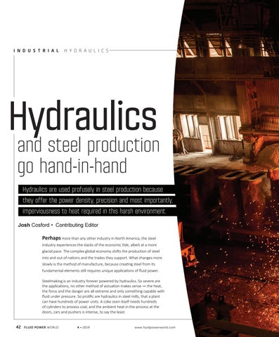 Page 44 of Hydraulics and steel production go hand-in-hand