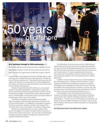 Page 56 of 50 years of offshore expertise