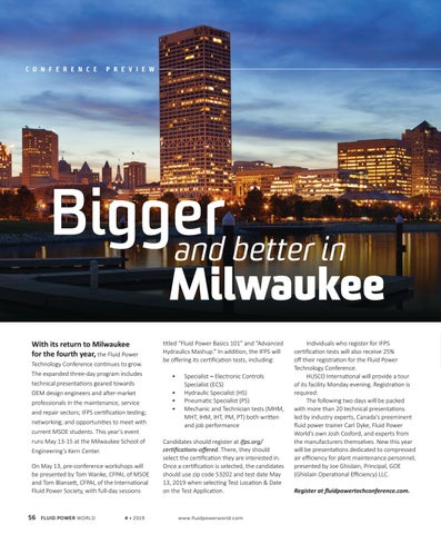 Page 58 of Bigger and better in Milwaukee