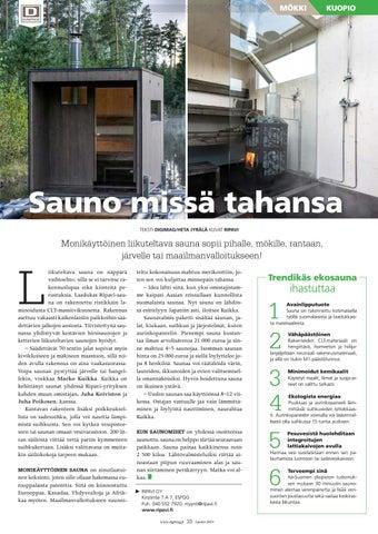 Page 33 of Sauno missä tahansa