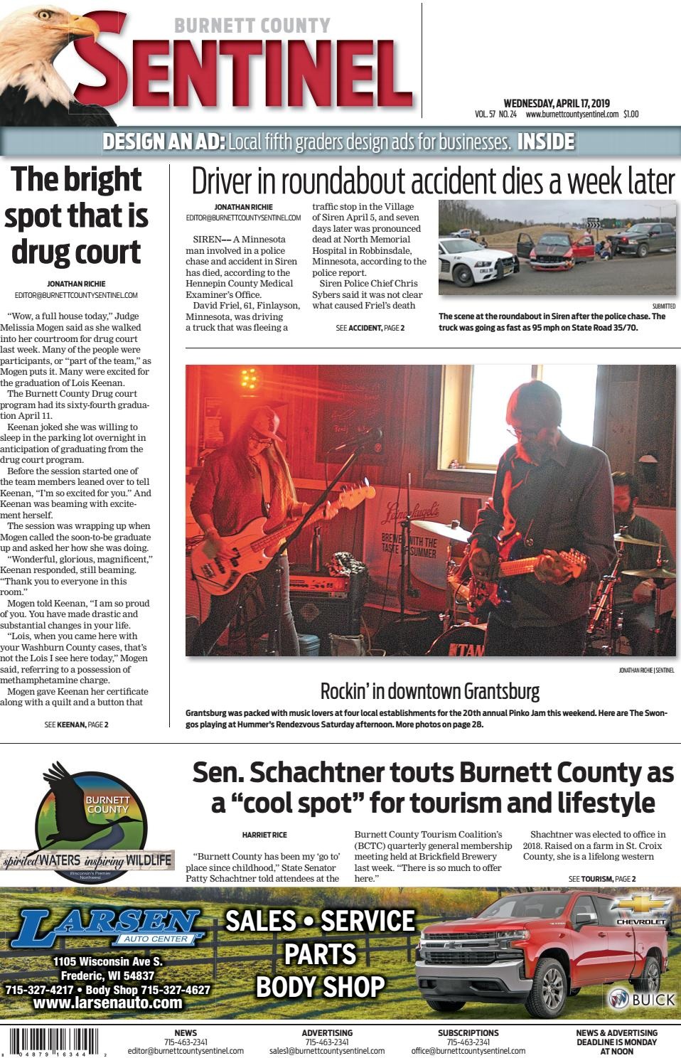 4a97e396e Burnett County Sentinel 04-17-2019 by Burnett County Sentinel - issuu