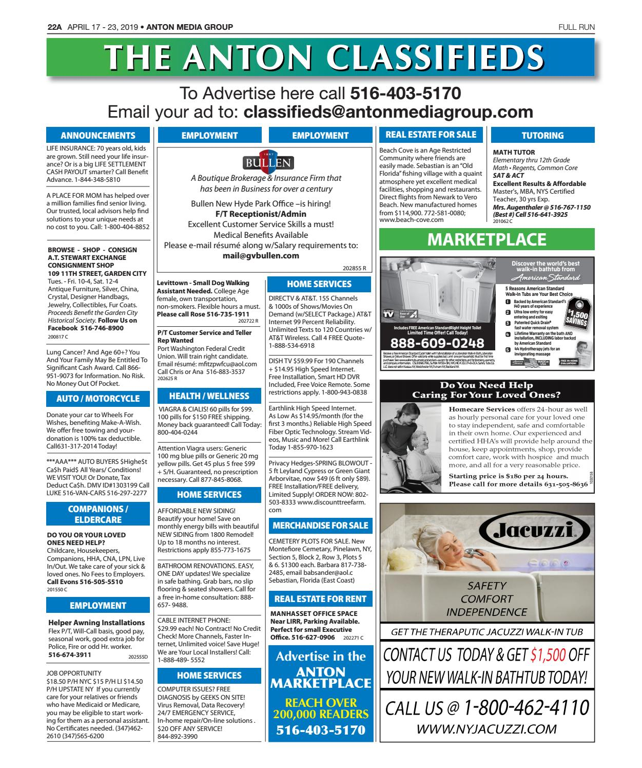 Classifieds 04-17-19 by Anton Community Newspapers - issuu