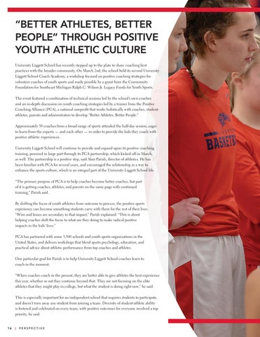 Page 18 of Better Athletes, Better People through Positive Youth Athletic Culture