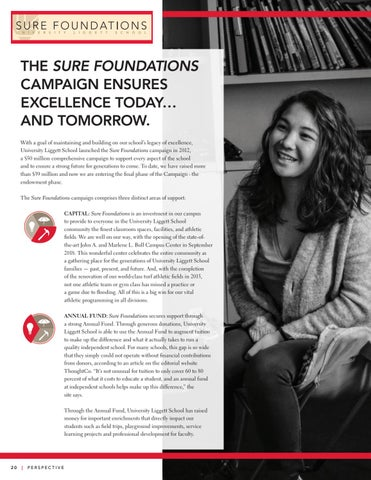 Page 22 of Sure Foundations Campaign Ensures Excellence Today ... and Tomorrow