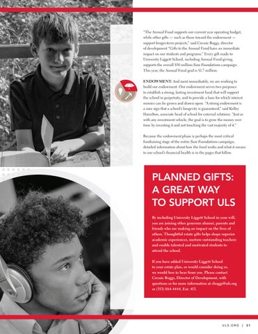 Page 23 of Sure Foundations Campaign Ensures Excellence Today ... and Tomorrow