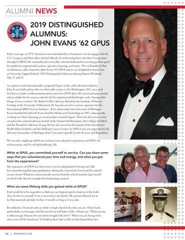 Page 44 of 2019 Distinguished Alumnus: John Evans '62 GPUS