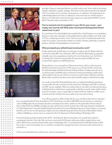 Page 45 of 2019 Distinguished Alumnus: John Evans '62 GPUS