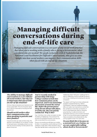 Page 14 of Managing difficult conversations during end-of-life care.