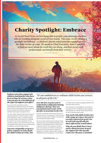 Page 22 of Charity Spotlight: Embrace.