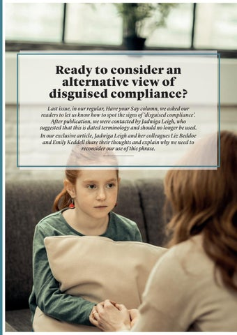 Page 28 of Ready to consider an alternative view of disguised compliance?