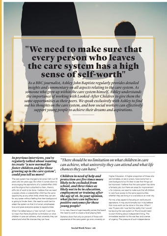 """Page 6 of """"We need to make sure that every person who leaves the care system has a high sense of self-worth"""""""