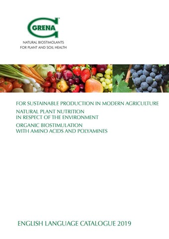 Natural Biostimulants for plant and soil health - Catalogue Grena