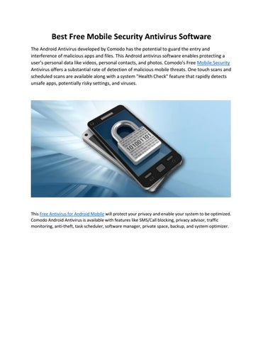 Free Antivirus for Android Mobile Phones by