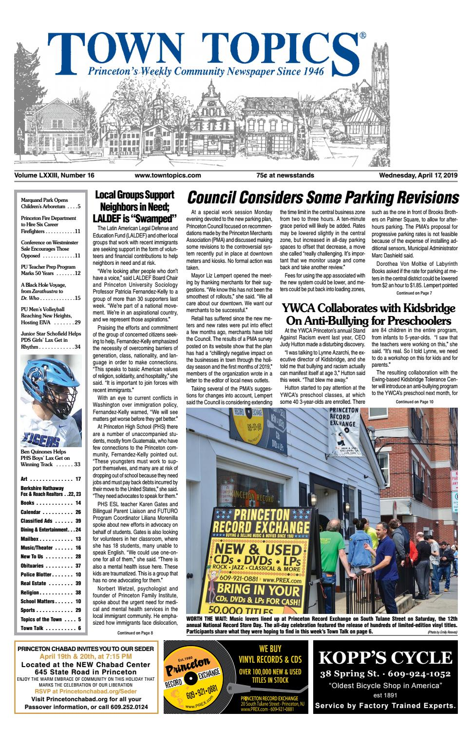 Town Topics Newspaper, April 17 by Witherspoon Media Group - issuu