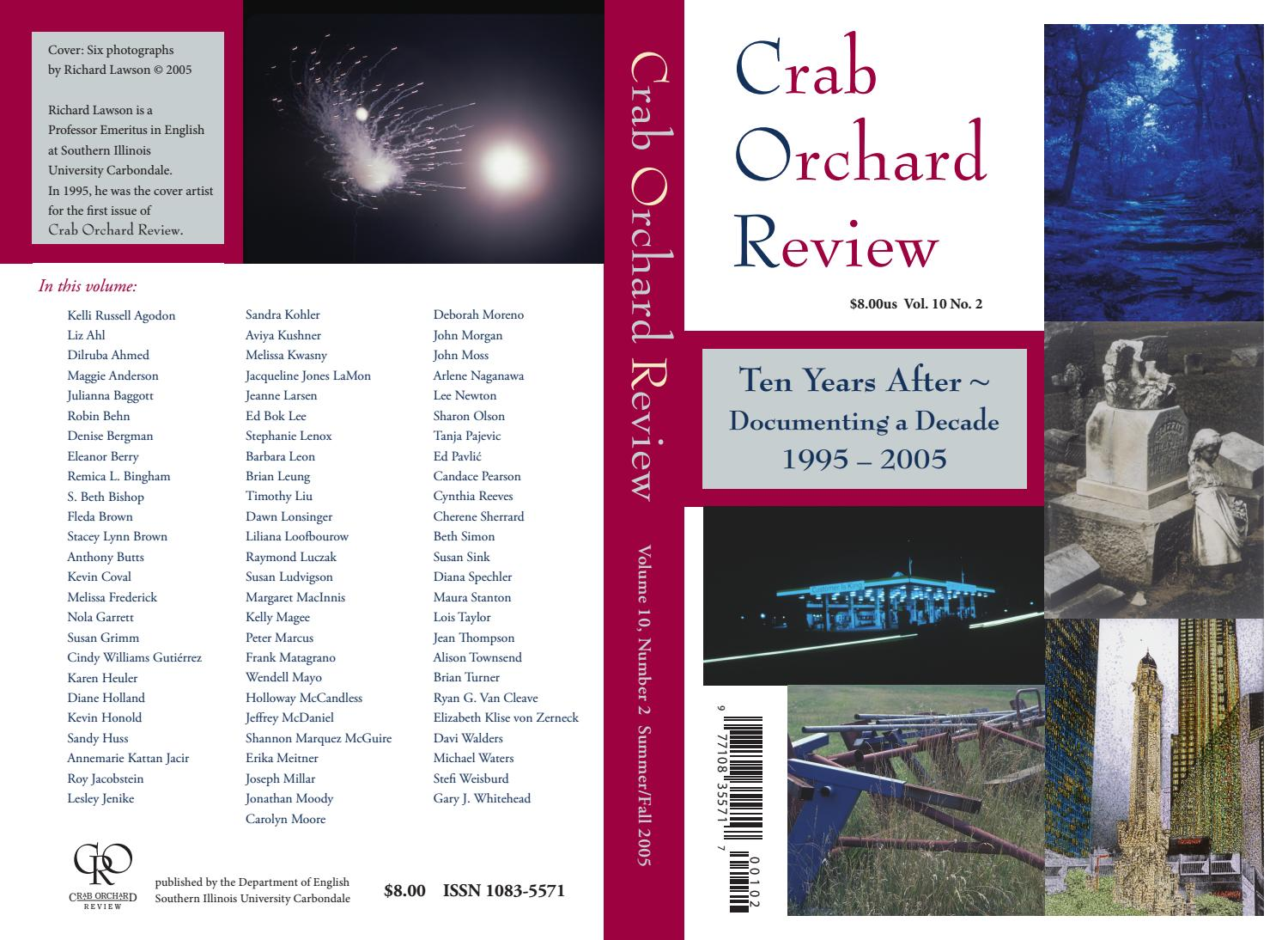 0dd2c0580bf Crab Orchard Review Vol 10 No 2 S F 2005 by Crab Orchard Review - issuu