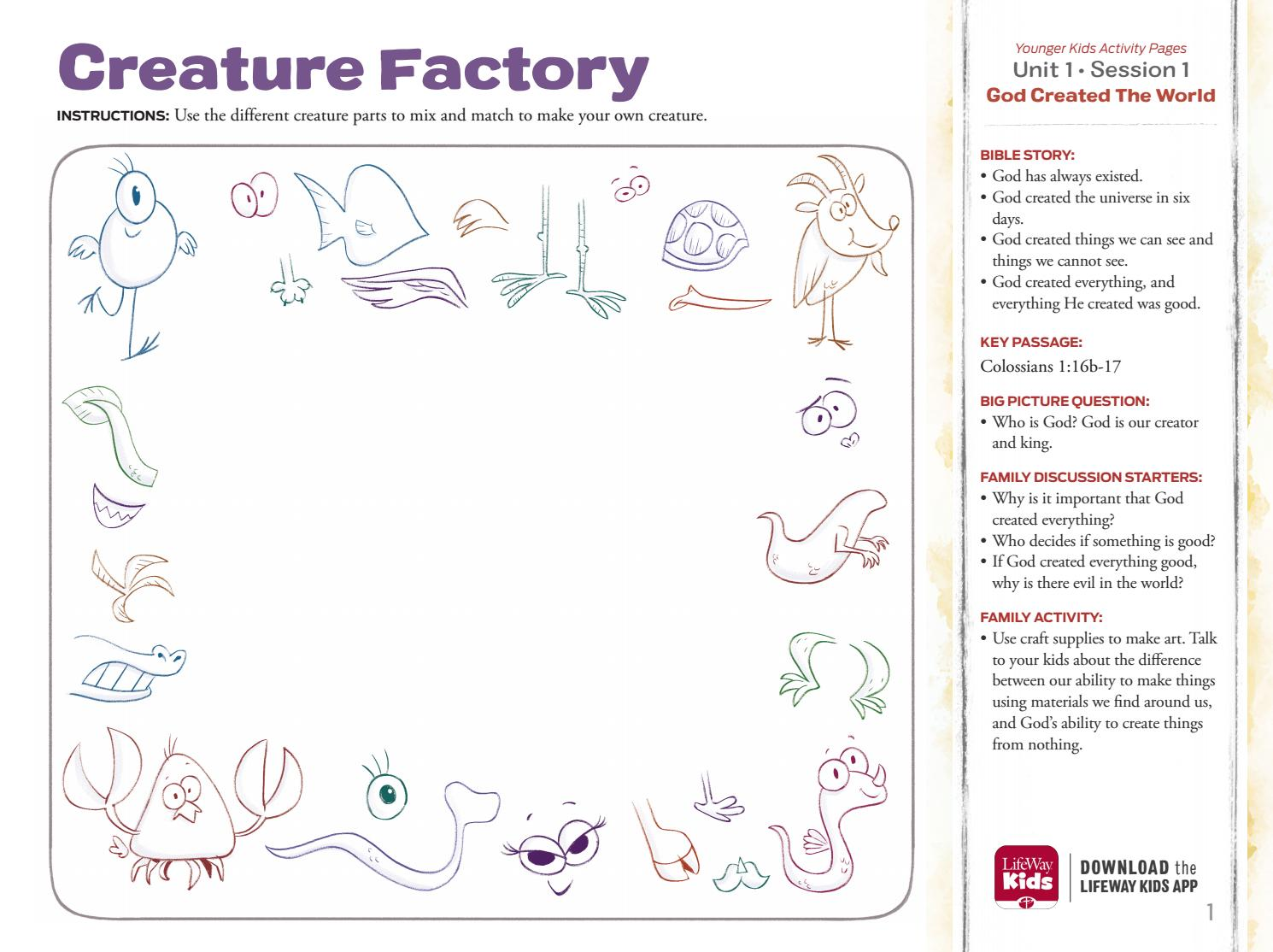 The Gospel Project for Kids: Younger Kids Activity Pages ...