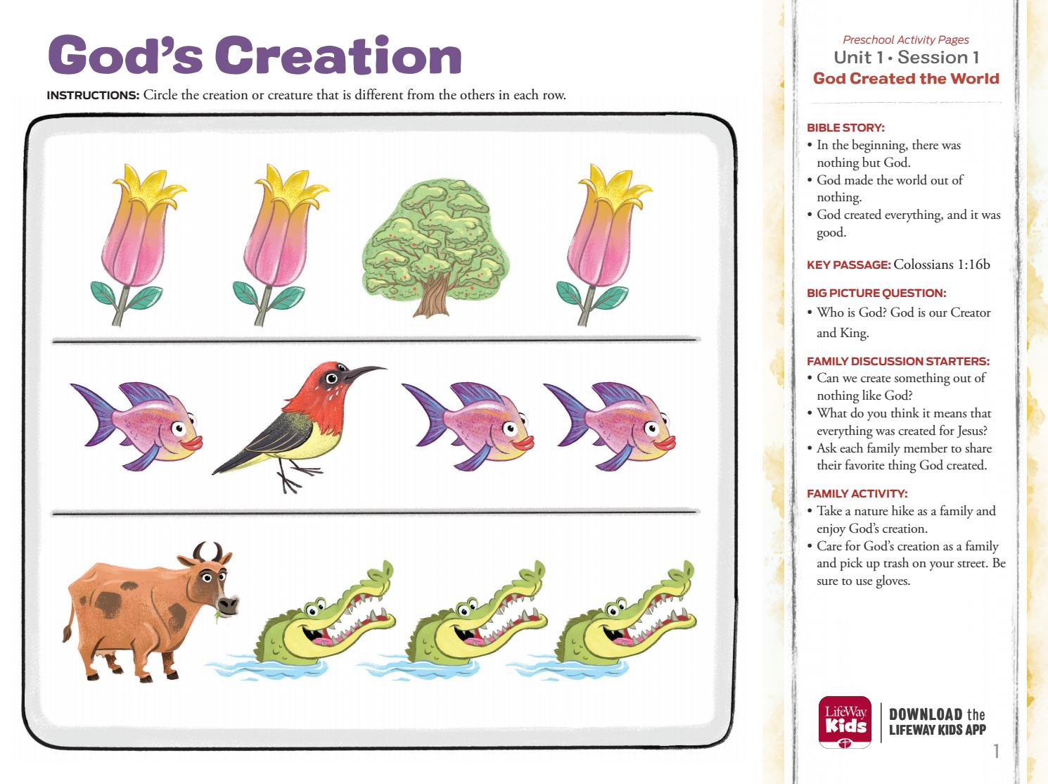 The Gospel Project for Kids: Preschool Activity Pages - Sample