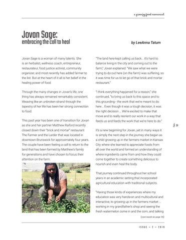 Page 19 of Jovan Sage: Embracing Her Call