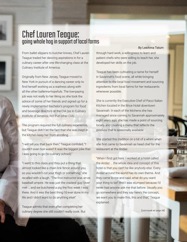 Page 35 of Chef Lauren Teague: going whole hog in support of local farms