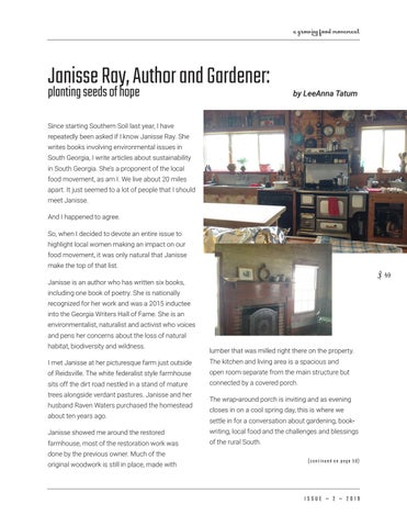 Page 49 of Janisse Ray, author & gardener: planting seeds of hope