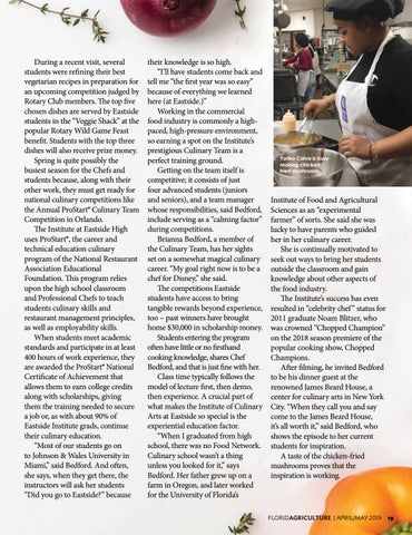Page 19 of Training for Culinary Careers