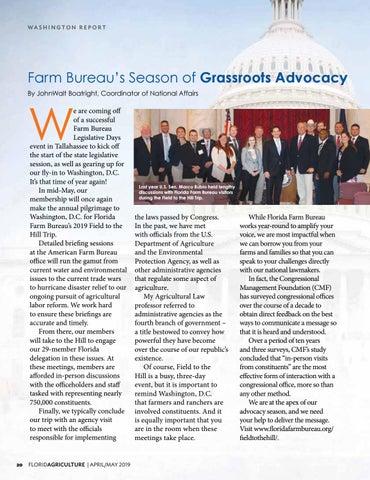 Page 20 of Farm Bureau's Season of Grassroots Advocacy