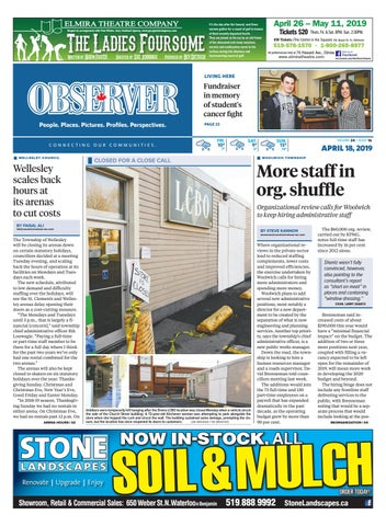 April 18, 2019 by Woolwich Observer - issuu