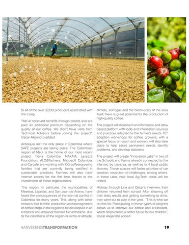 Page 19 of Colombia. Coffee meets Ag-Tech