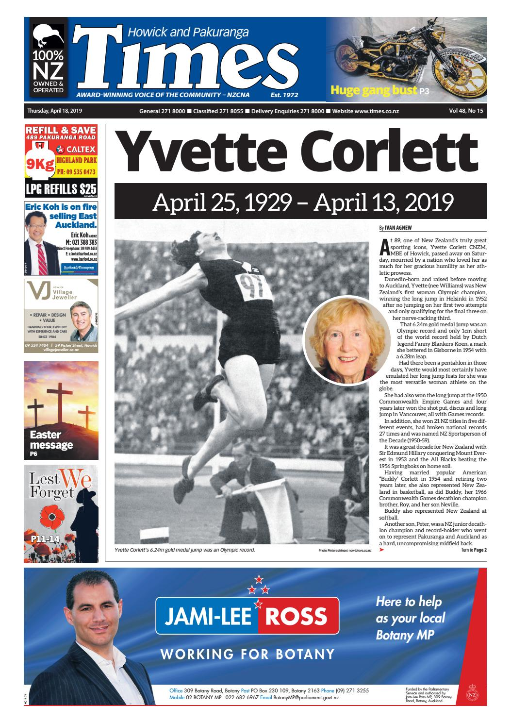 Howick and Pakuranga Times, April 18, 2019 by Times Media - issuu