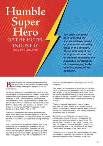 Page 11 of Humble super hero of the hotel industry