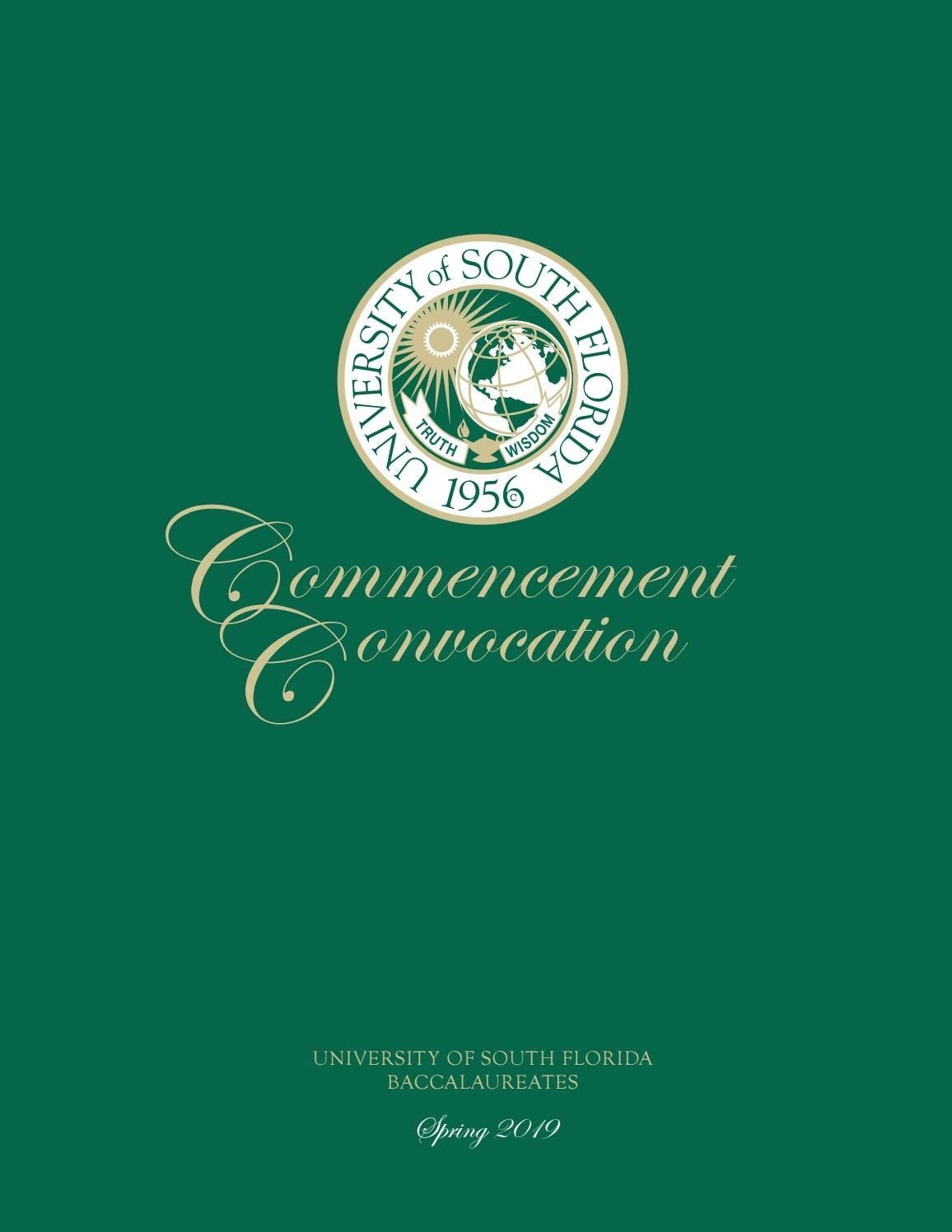 Spring 2019 USF Tampa Undergraduate Commencement Program by USF