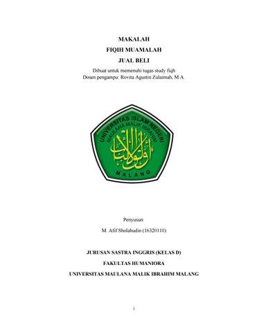 Makalah Jual Beli By Muhammad Afif Sholahudin Alfajri Issuu