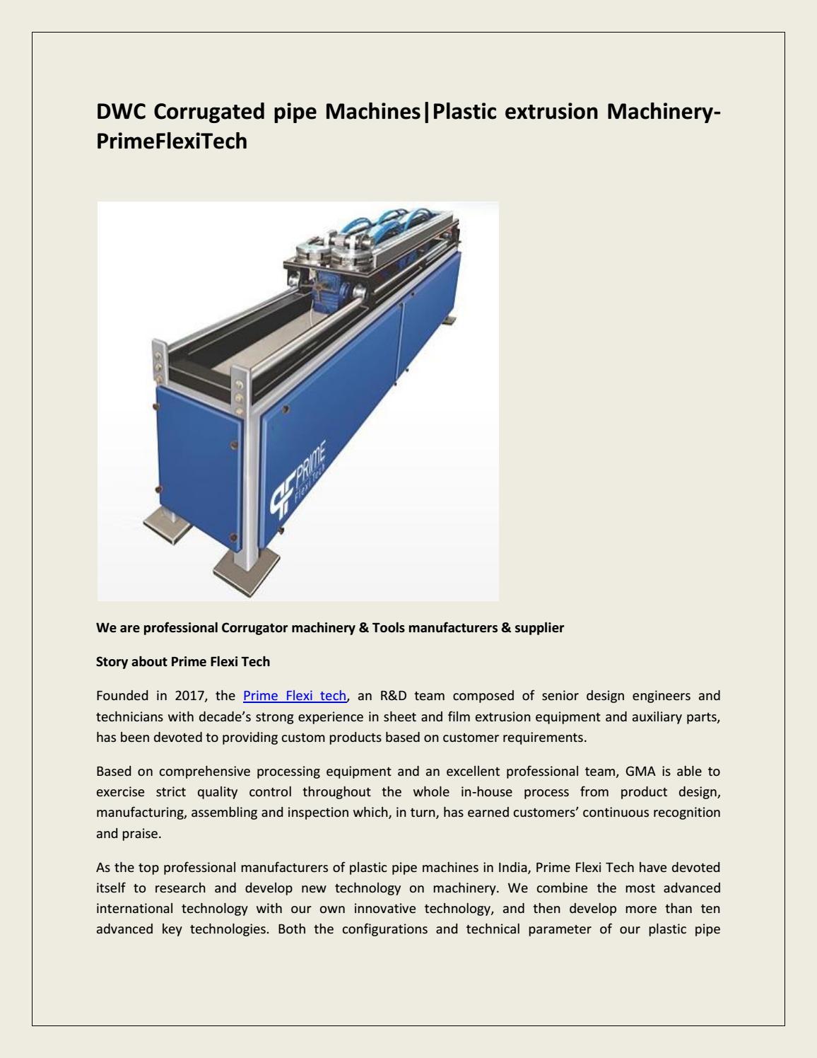 DWC Corrugated pipe Machines|Plastic extrusion Machinery