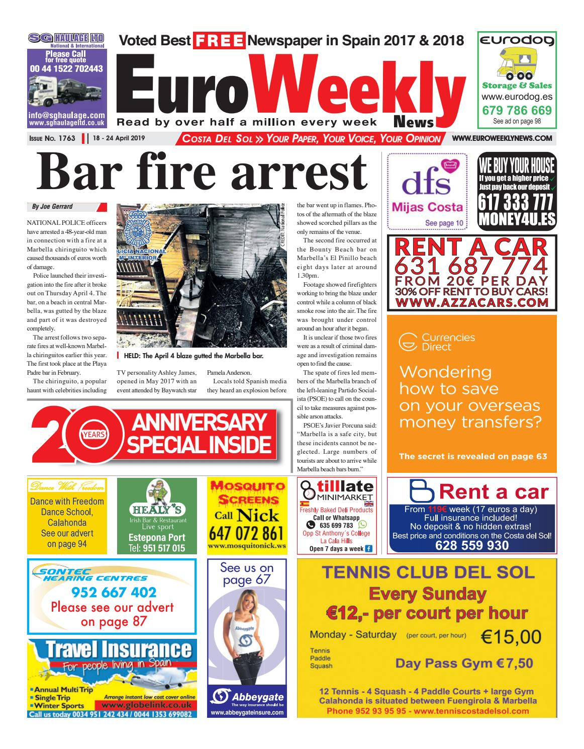 Euro Weekly News - Costa del Sol 18 - 24 April 2019 Issue 1763 by