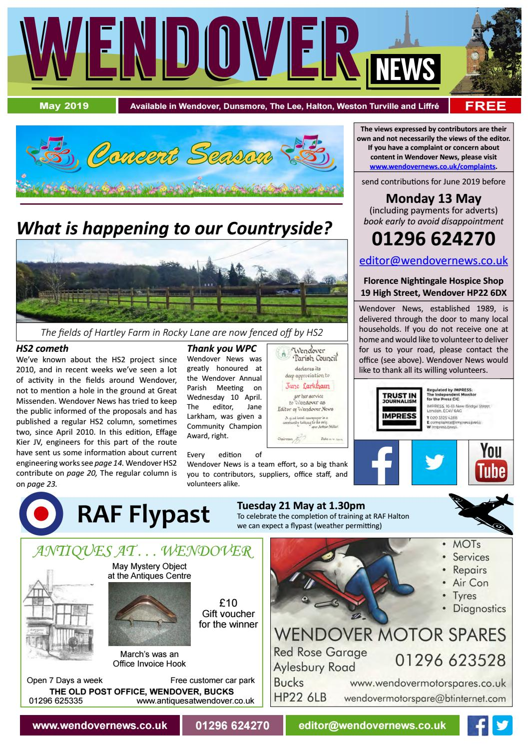 2f0c62d5 Wendover News May 2019 by Wendover News - issuu
