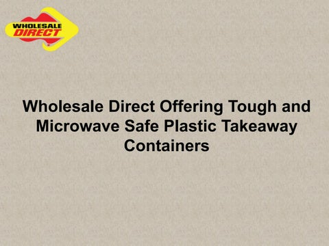 Page 1 Whole Direct Offering Tough And Microwave Safe Plastic Takeaway Containers