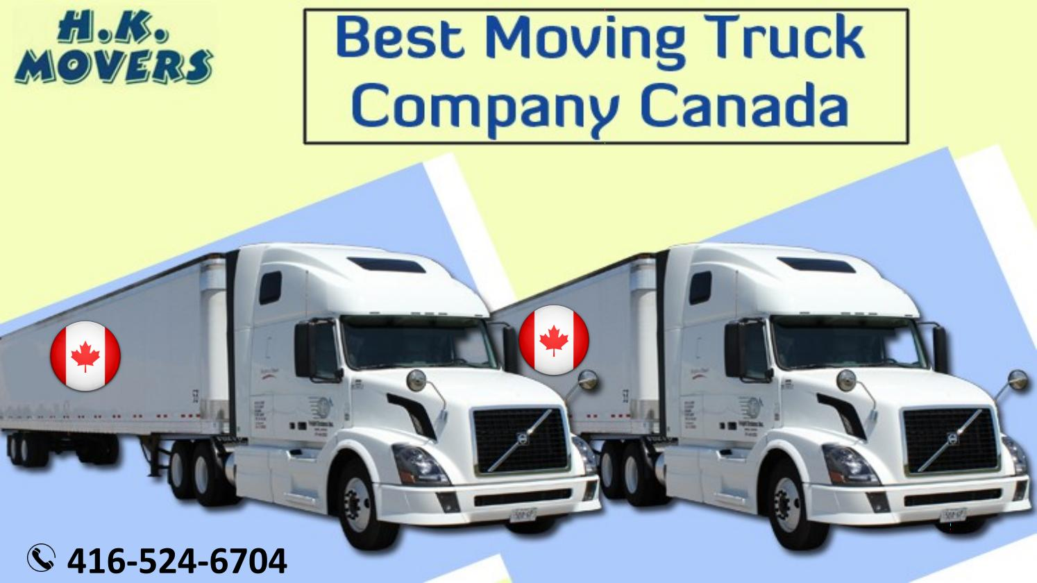 Best Moving Truck Company in Canada
