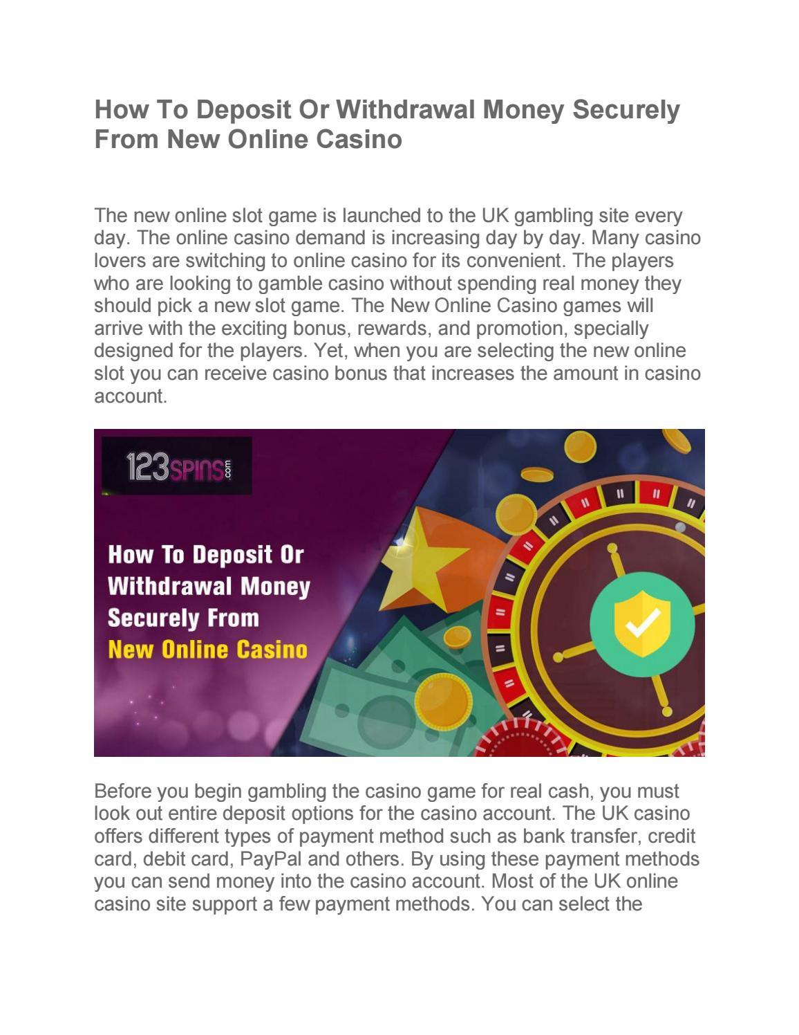 New online casino offers no deposit