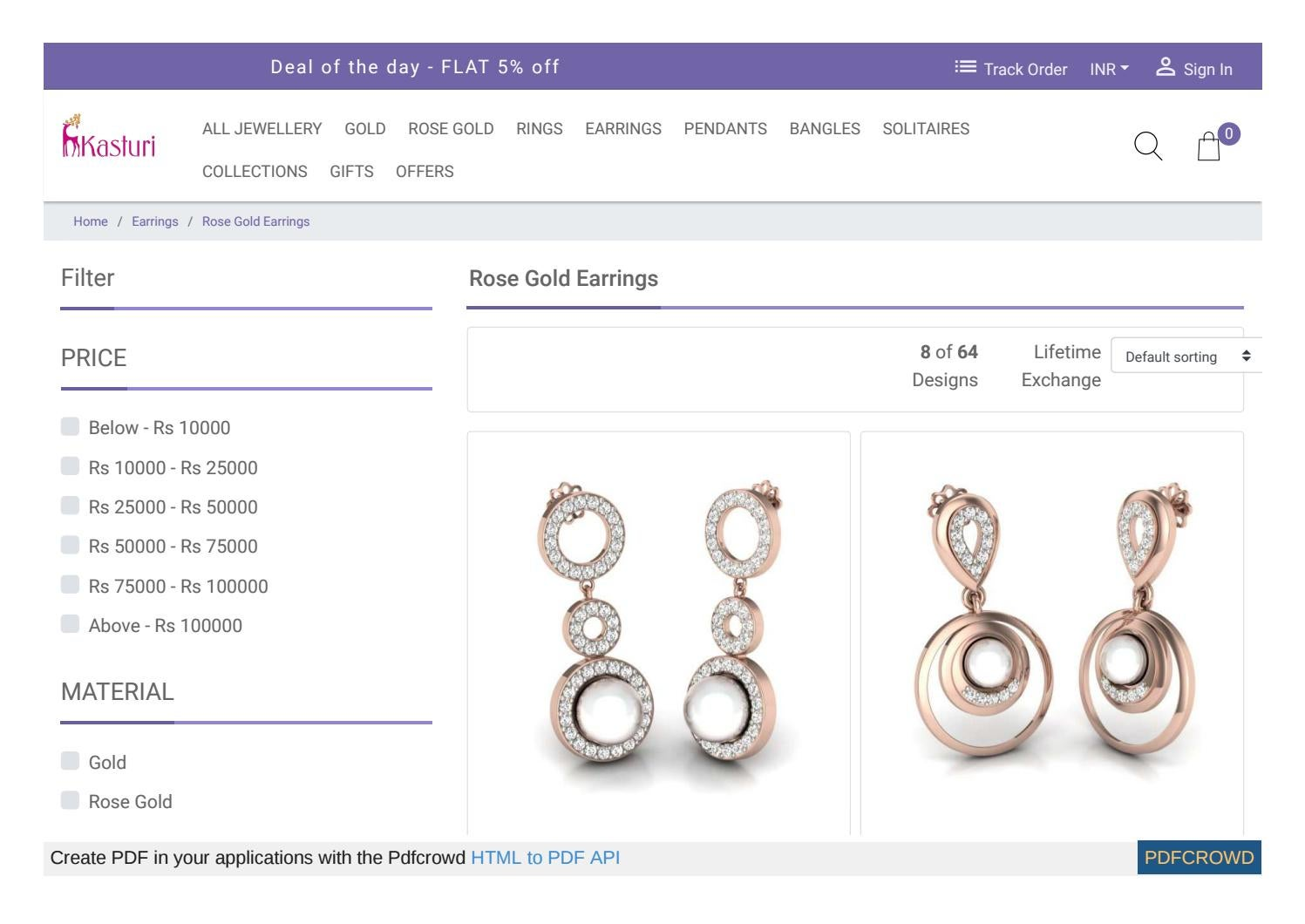 0905fa095 Rose Gold Earrings Designs by GeetGaul - issuu